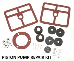 repair kit for piston pump for solar or wind powered homes.