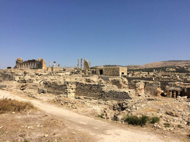 Approaching the Town Center in Volubilis