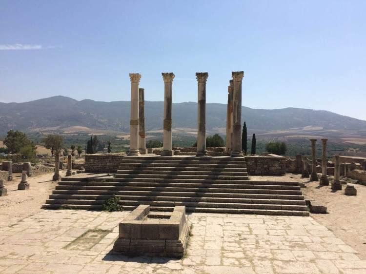 The Forum Romanum in Volubilis