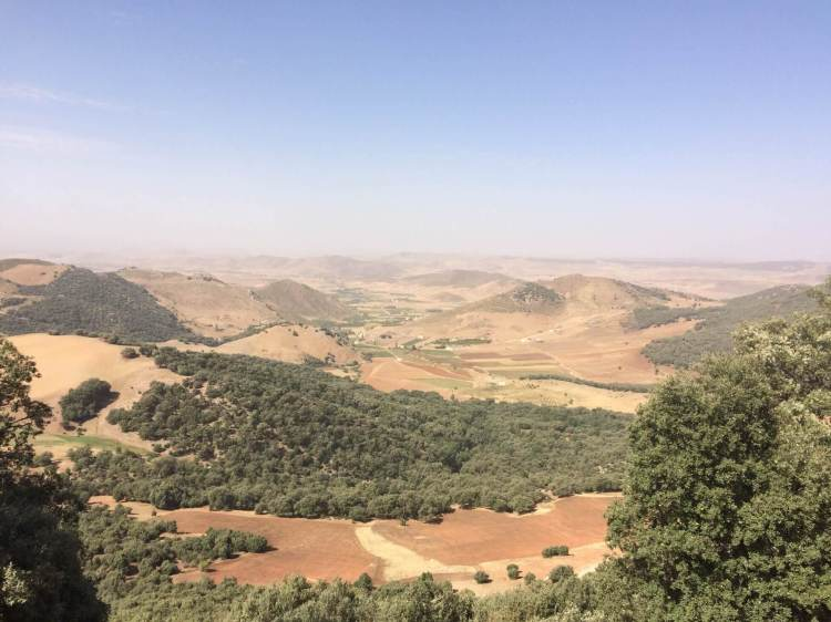 The valley towards Meknes in Morocco