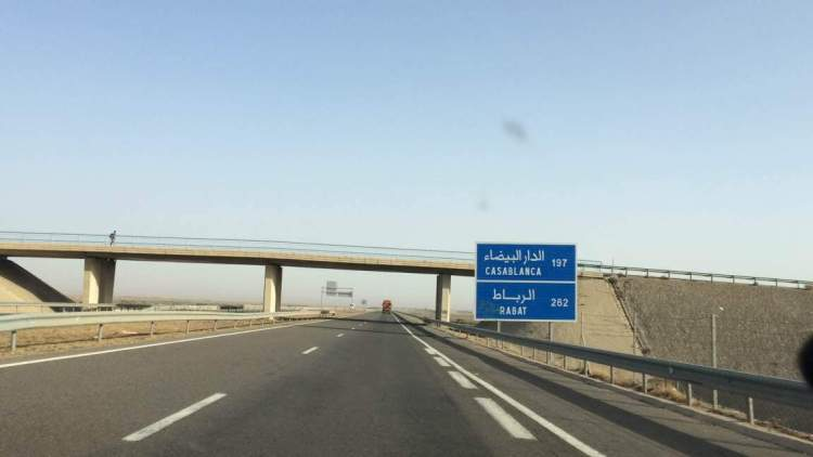 The motorways in Morocco
