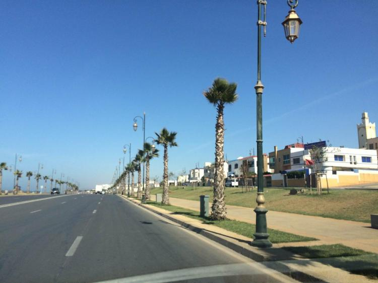 Driving Down the Rabat Seafront