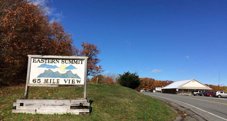 65-mile View at Eastern Summit