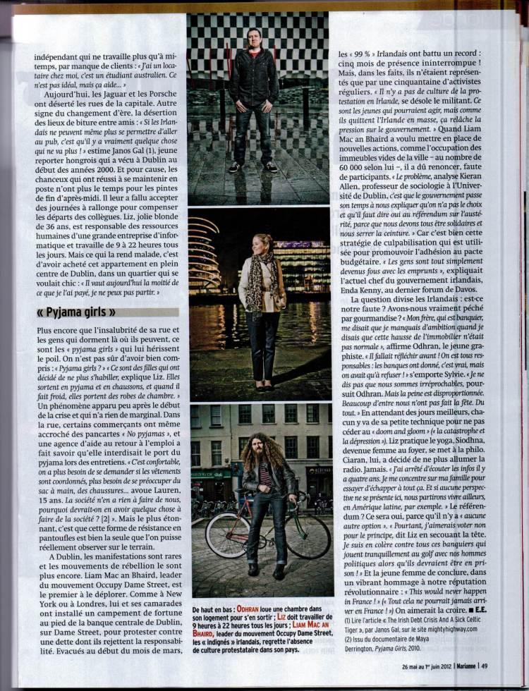 Janos Gal Marianne Magazine