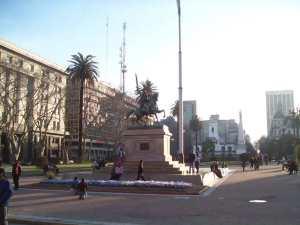 The Avenida de Mayo's Central Section