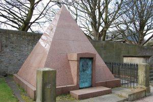 The Granite Pyramid in Edinburgh Cemetery