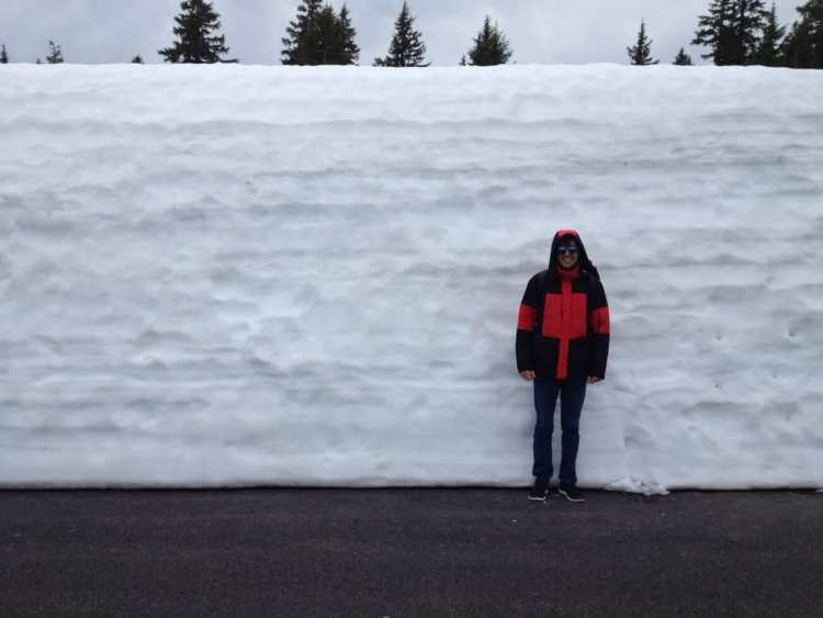 The Snow at Crater Lake National Park