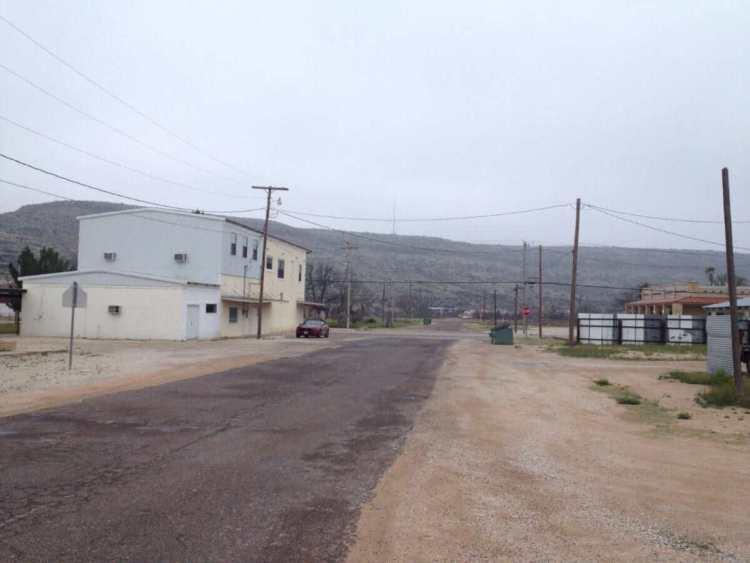 A back street in Sanderson, TX