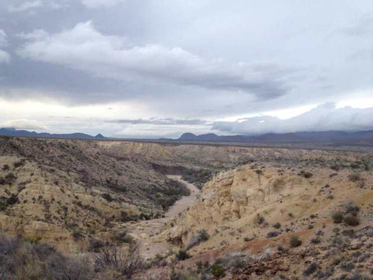 The valleys at Grapevine Hills