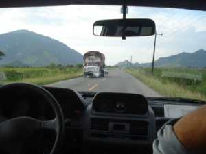 The road past Guayaquil