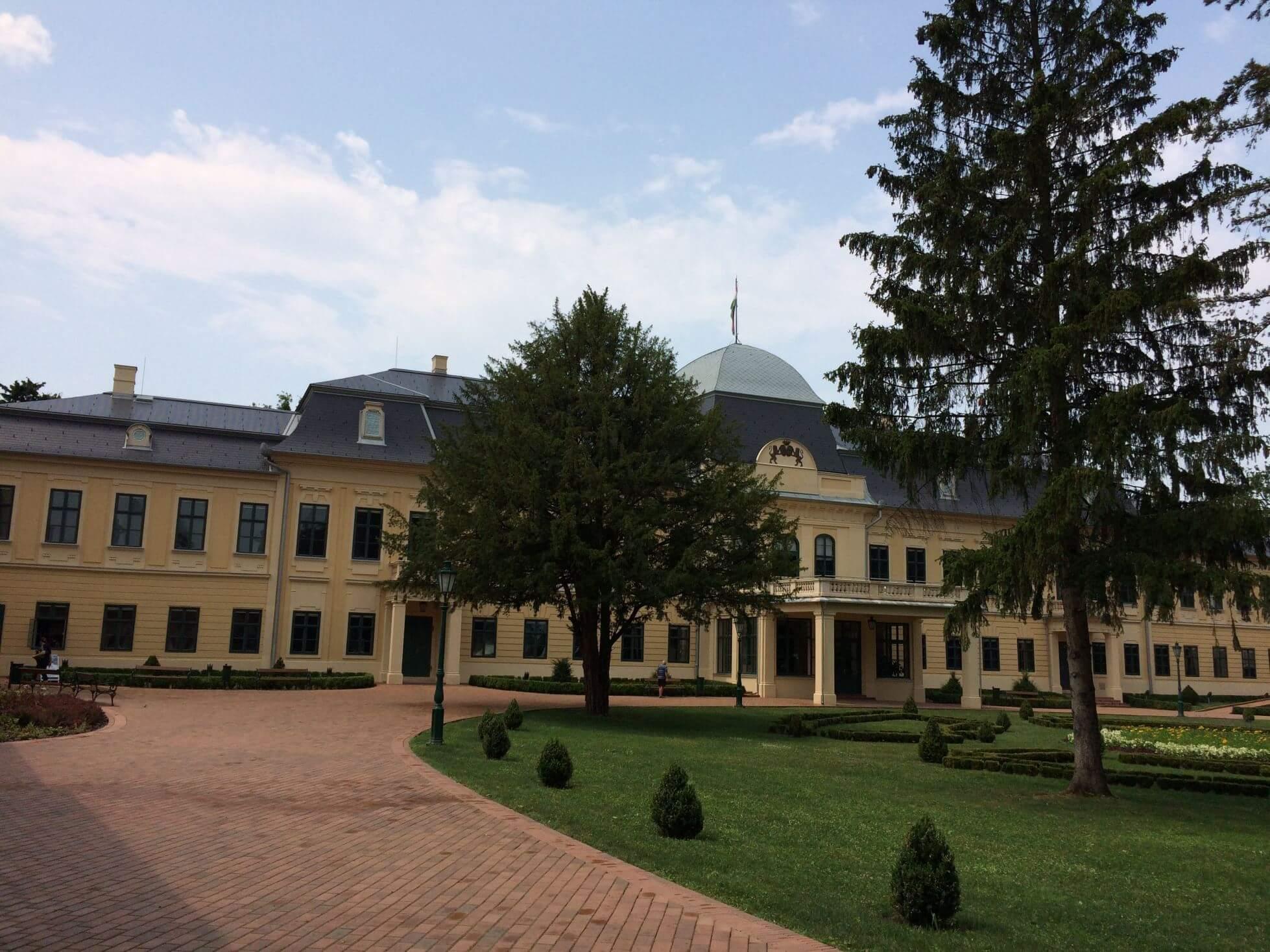 Outside of the Almassy Palace, Gyula