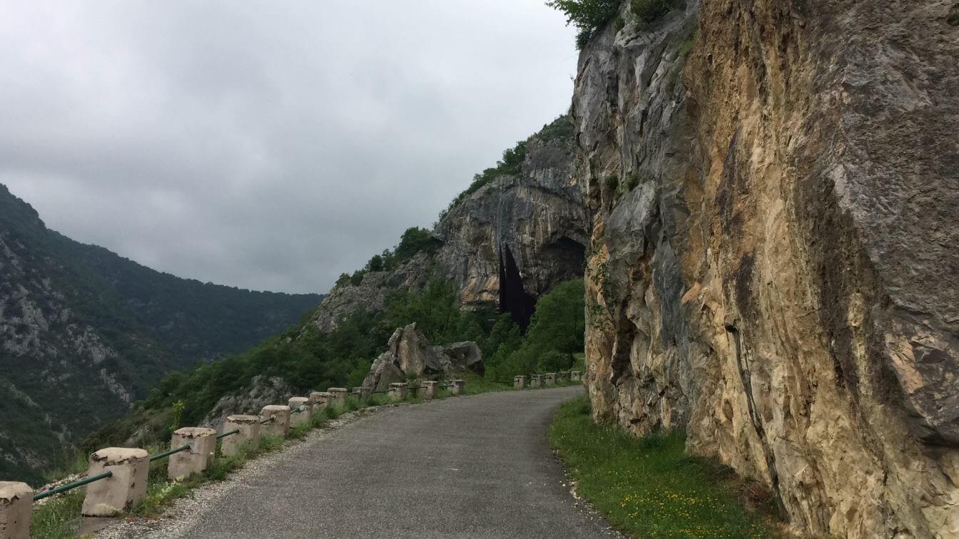 Road to Grotte de Niaoux Cave