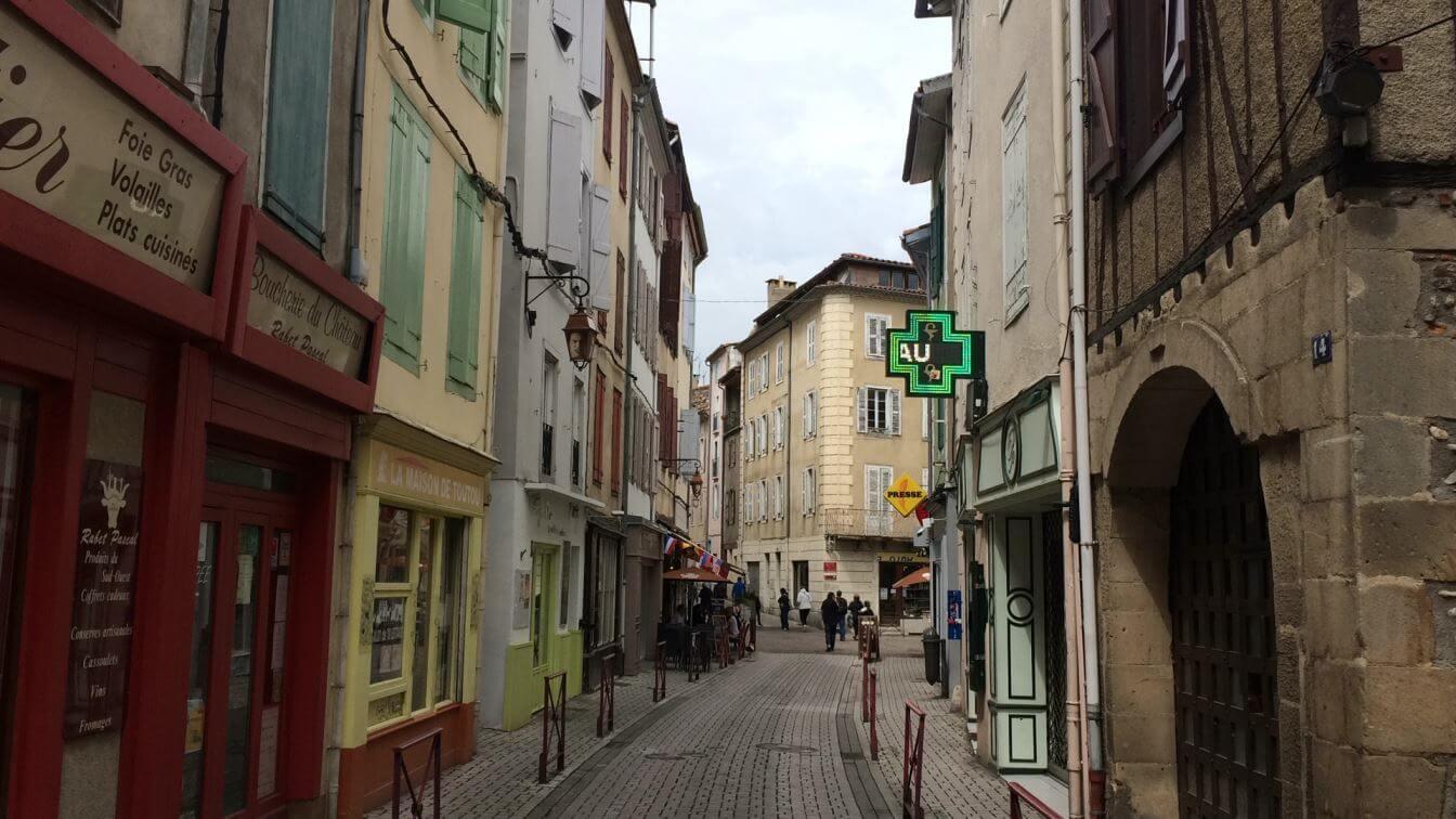 Medieval Foix High Street