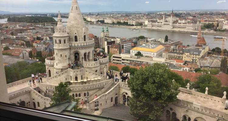 View from Hilton Budapest Castle Hill