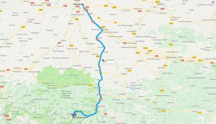 Driving Directions to Aulus les Bains