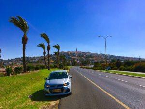 Driving Past Tiberias, Israel