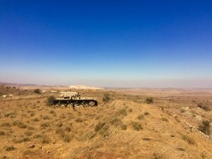 Another tank in the Golan Heights