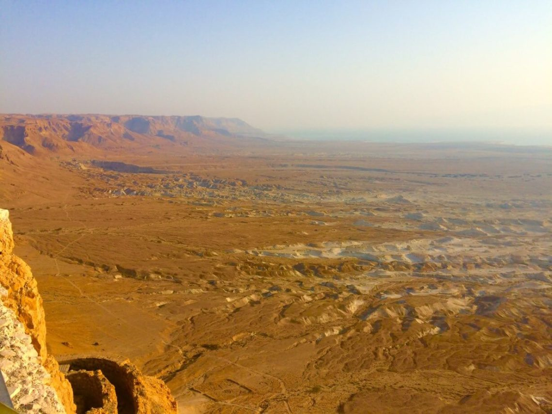 The valley in front of Masada