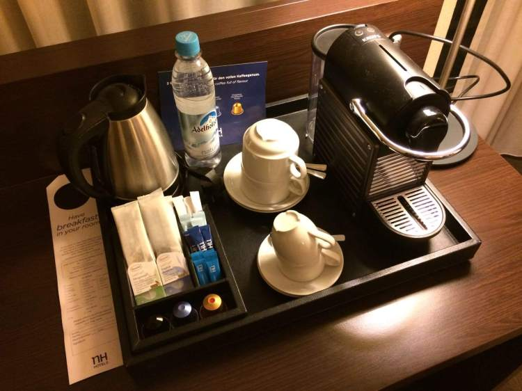The coffee machine in the room