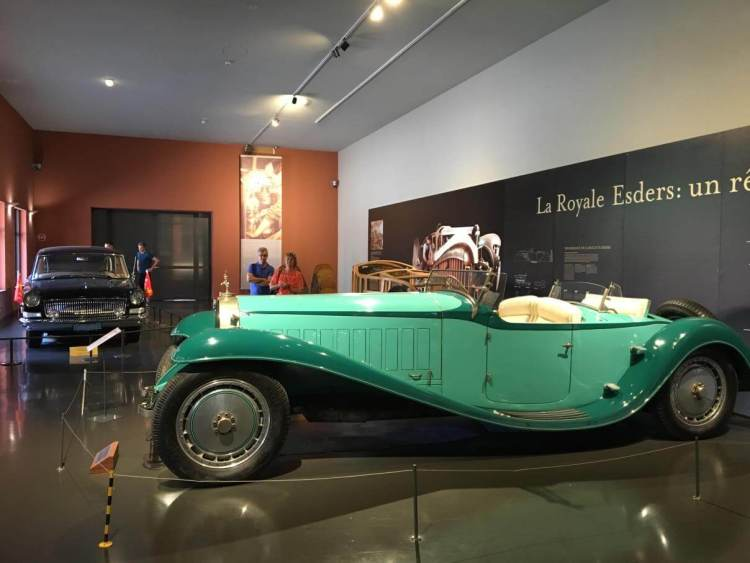 A car in the exhibition