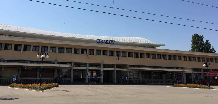 The Train Station in Brasov in Romania