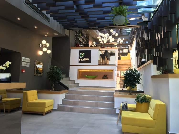 The Lobby of the Belfort Hotel in Brasov, Romania