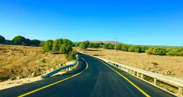 Driving in the Golan Heights