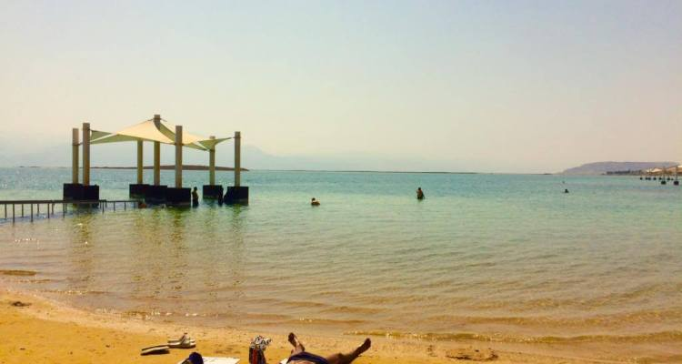 Free Beaches at the Dead Sea in Israel