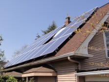 Hosek Installation of solar panels on roof