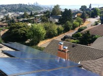 Kosper installation of solar panels on roof