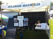 solar panel at Solarize Magnolia