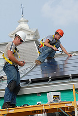 PV Installers on roof