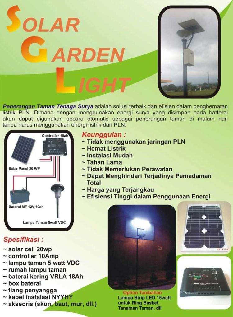 Distributor Solar Garden Light brosur