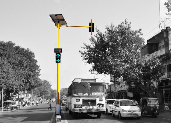Solar Traffic Light lampu merah
