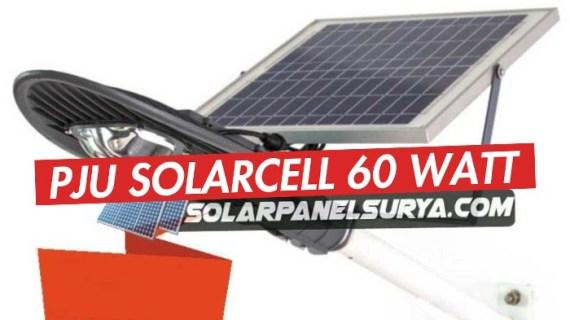 PJU Solar Cell 60 watt Lampu PJU Tenaga Surya LED 60w
