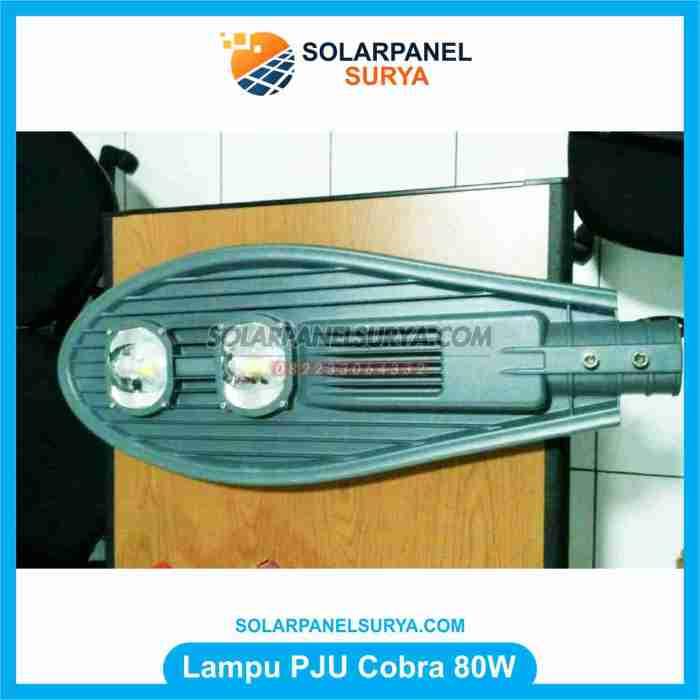 Lampu jalan Tenaga Surya led cobra 80 Watt