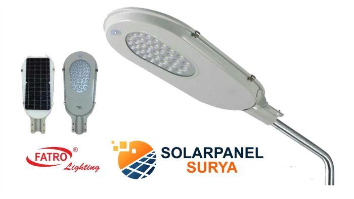 Jual lampu jalan tenaga surya all in one fatro 24 watt 24w