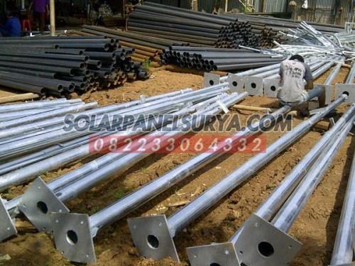 Tiang PJU Bulat 6 Meter galvanis