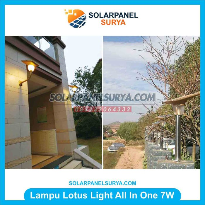 Lampu Taman All In One solarcell 7 watt