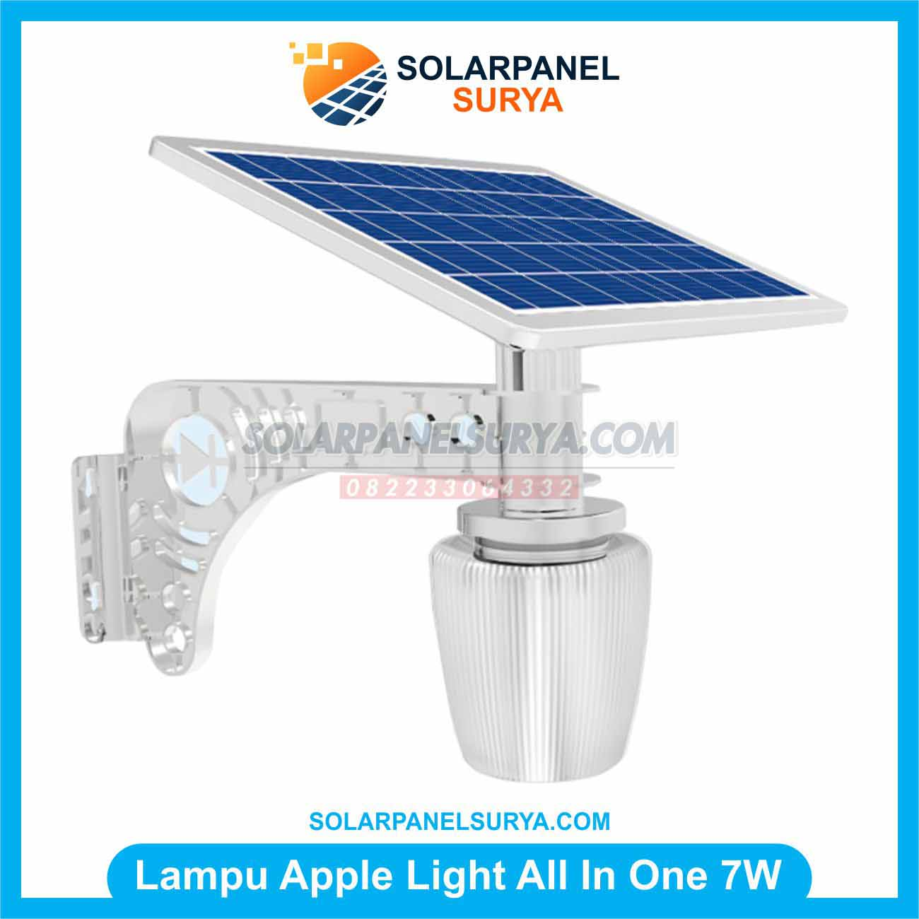 Jual Lampu Taman Tenaga Surya All In One Apple Light 7 Watt