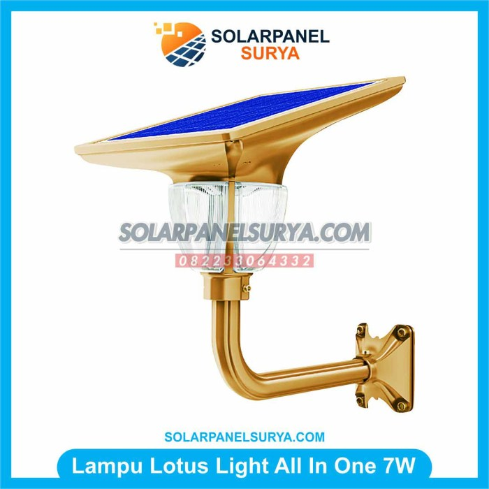Lampu Taman Solarcell All In One Lotus Light 7 watt
