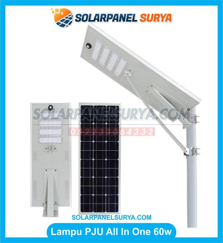 lampu pju all in one 60 watt tenaga surya