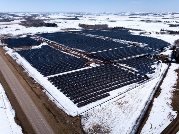 LONGi Supplies 69,000 pcs of Bifacial Modules to the 25.3MW Innisfail Solar Project in Canada