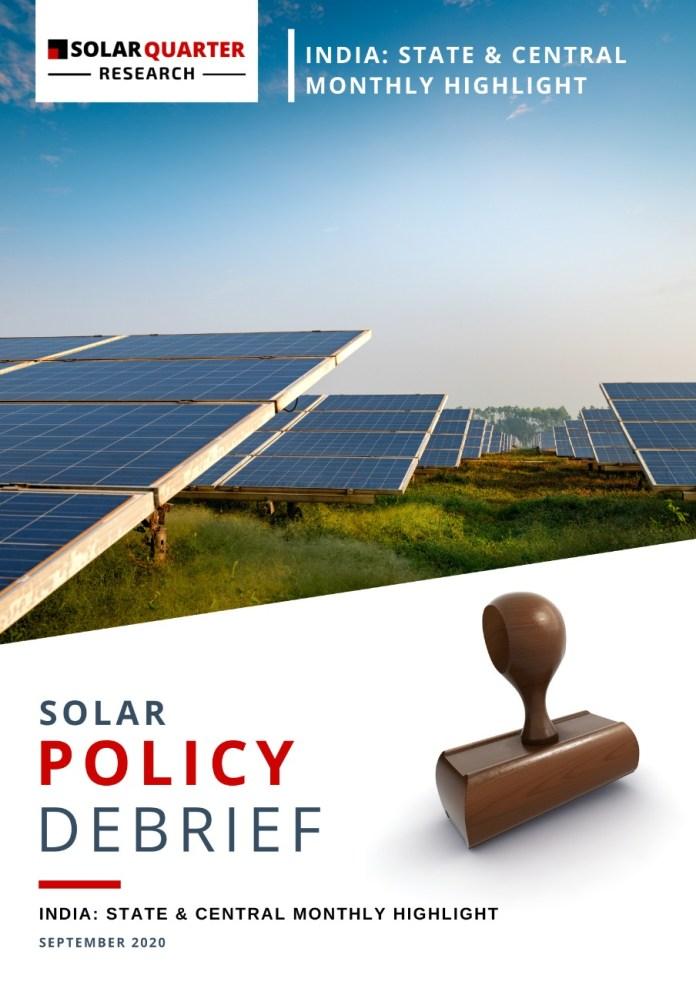 Solar Policy Debrief, September  2020