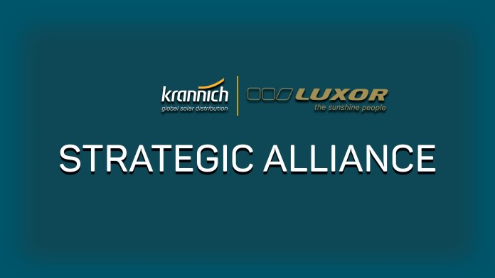 Krannich Solar Announced a Strategic Collaboration with German Based Luxor Solar to Cater Indian PV Market