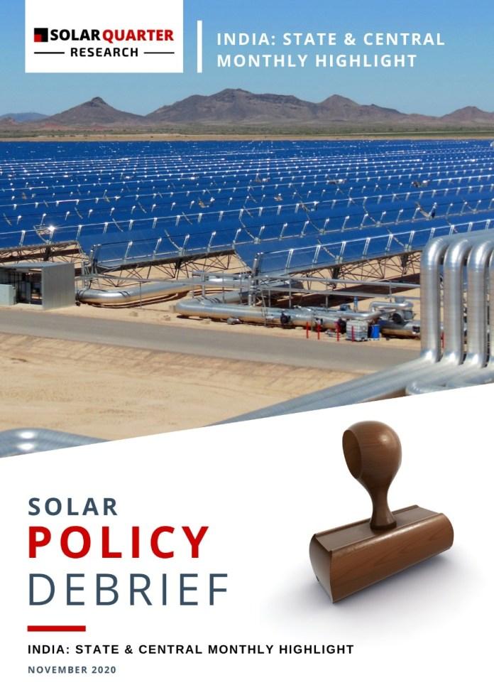 Solar Policy Debrief – November 2020