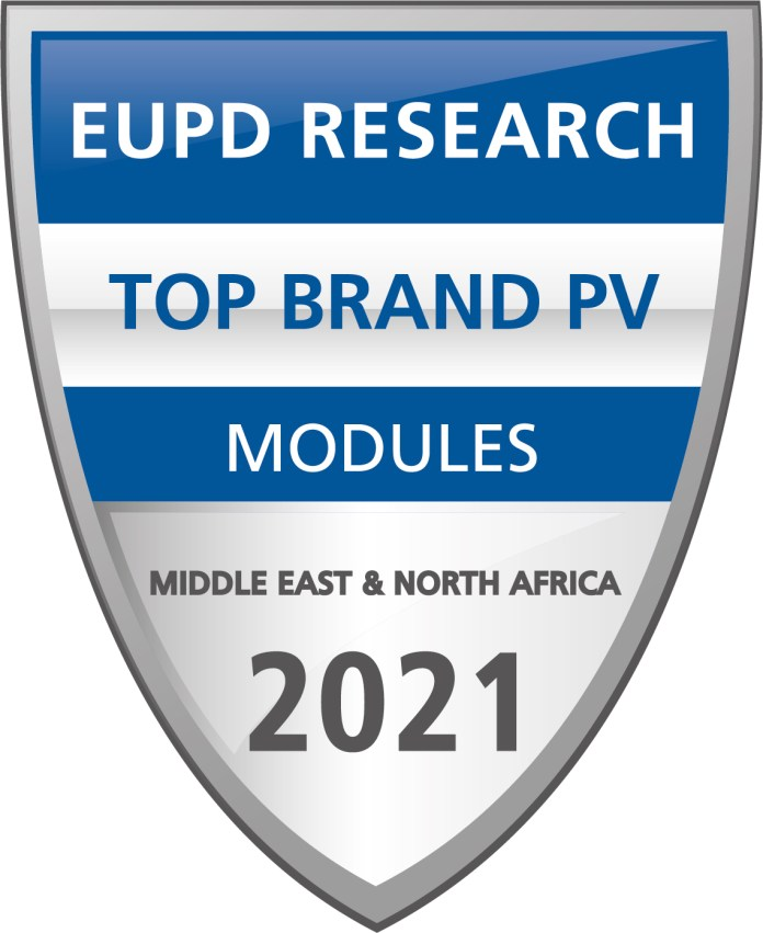 JinkoSolar Awarded Top Brand PV In MENA 2021 By EUPD Research