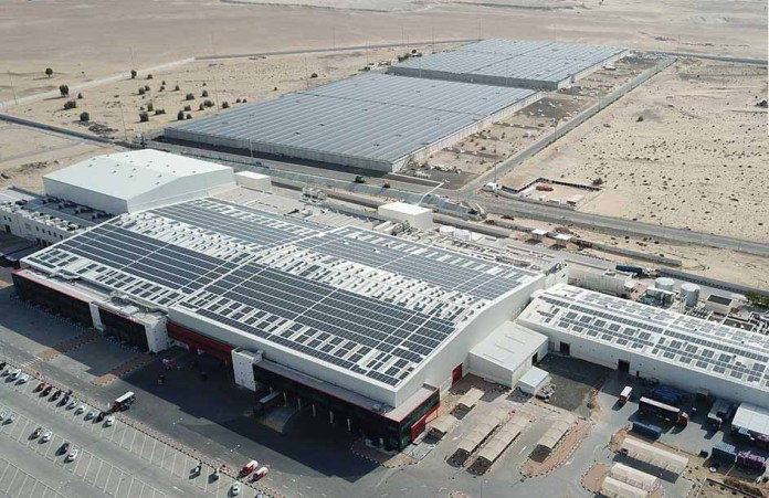 Mai Dubai Cutback CO2 after Starting Solar Rooftop System
