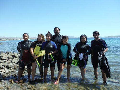 Photobiology Group. Cristal, Rosalia, Nancy, Richy, Allison, Susan & Thiago.