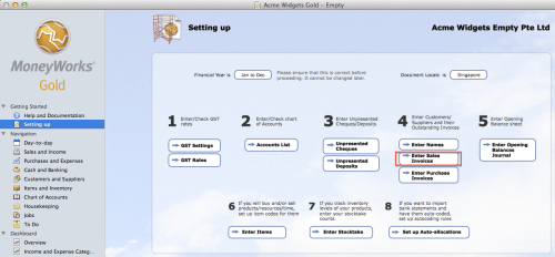 Setting up accounts receivable